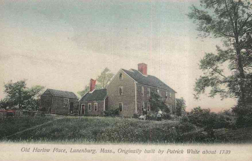 Lunenburg, Massachusetts, USA - Old Harlow Place, Lunenburg, Mass., Originally built by Patrick White about 1730