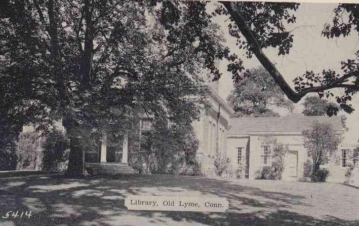 Old Lyme, Connecticut, USA (South Lyme) - Library, Old Lyme, Conn.