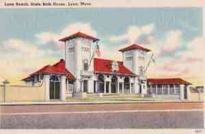 Lynn, Essex, Massachusetts, USA - Lynn Beach, State Bath House, Lynn, Mass.