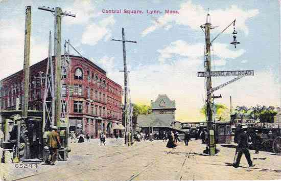 Lynn, Essex, Massachusetts, USA - Central Square. Lynn, Mass.