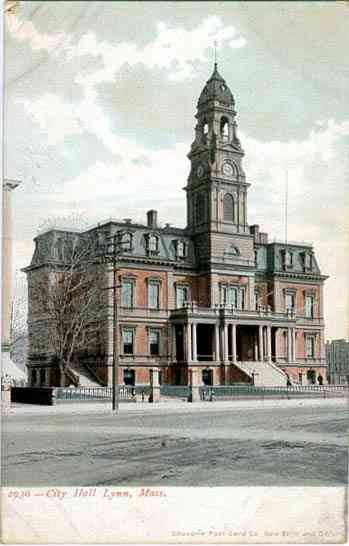 Lynn, Essex, Massachusetts, USA - City Hall. Lynn, Mass.