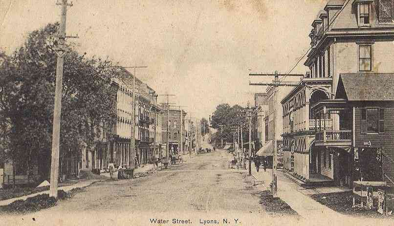 Lyons, New York, USA - Water Street, Lyons, N.Y.