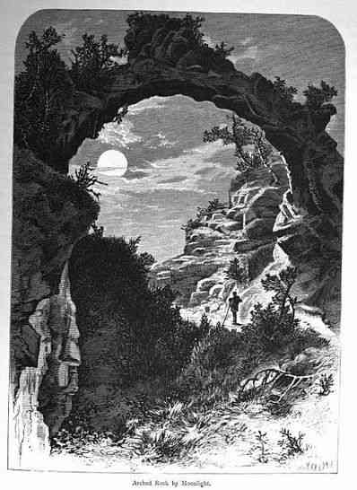 Mackinac Island, Michigan, USA (Fort Michilimackinac) - Arched Rock by Moonlight