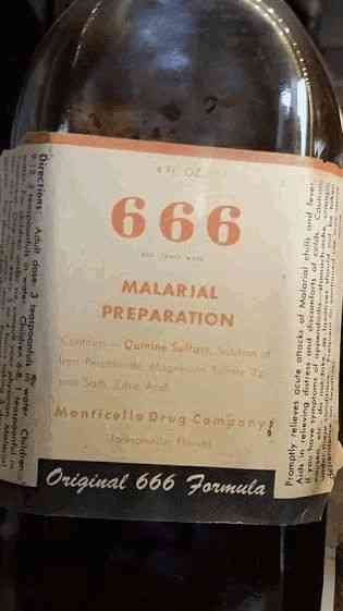 Jacksonville, Florida, USA - 666 Malarial Preparation