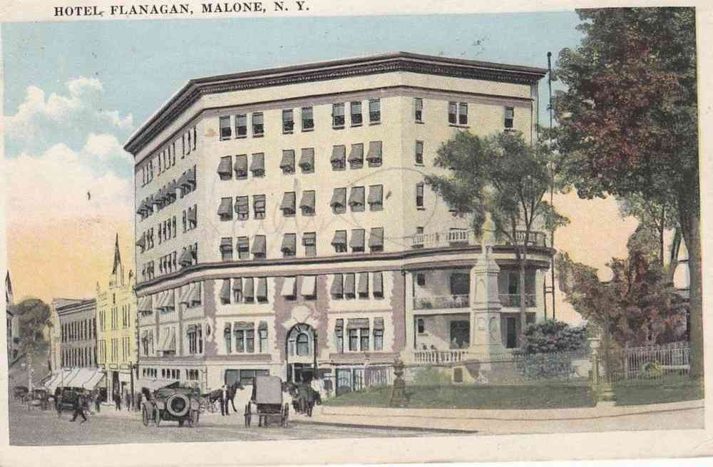 Malone, New York, USA - Hotel Flanagan, Malone, N.Y.