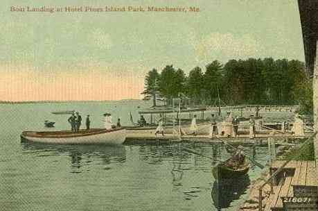 Manchester, Maine, USA - Boat Landing At Hotel Pines Island Park