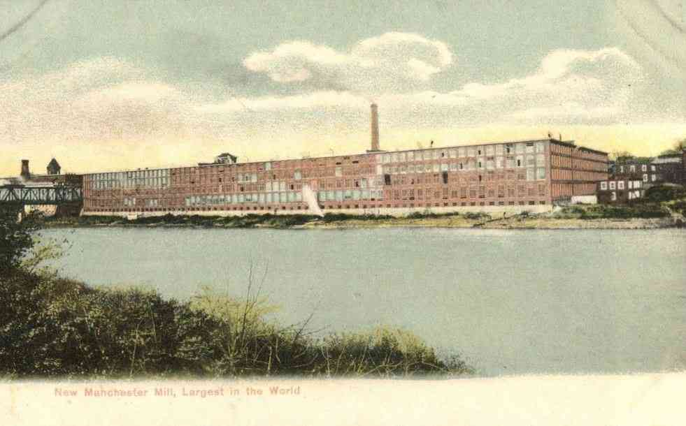 Manchester, Maine, USA - New Manchester Mill, Largest in the World