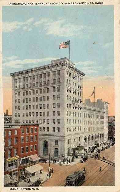 Manchester, New Hampshire, USA  - Amoskeag National Bank and Merchants National Bank