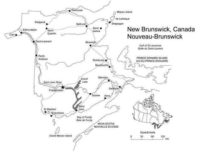Bathurst, New Brunswick, Canada - www.freeusandworldmaps.com