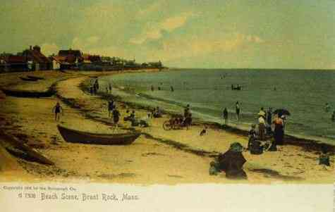 Marshfield, Massachusetts, USA  - Beach Scene, Brant Rock, Marshfield, Mass.