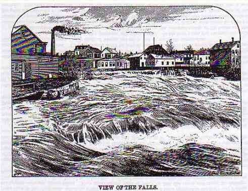 Mechanic Falls, Maine, USA - View of the Falls