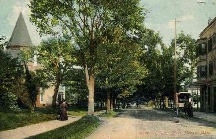 Melrose, Massachusetts, USA - Emerson Street, Melrose, Mass. about 1910
