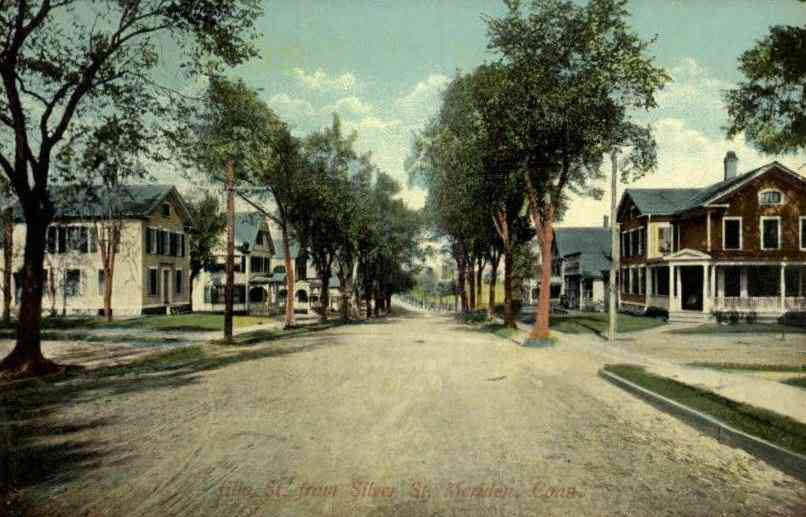 Meriden, Connecticut, USA - Elm St. from Silver St., Meriden, Conn. (1910)