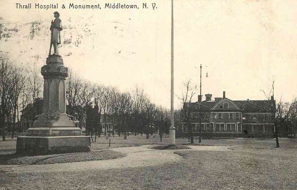 Middletown, New York, USA - Thrall Hospital & Monument, Middletown, N.Y.