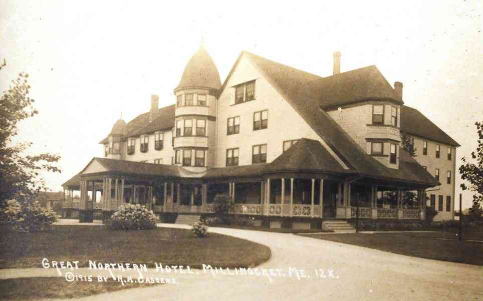 Millinocket, Penobscot, Maine, USA - Great Northern Hotel