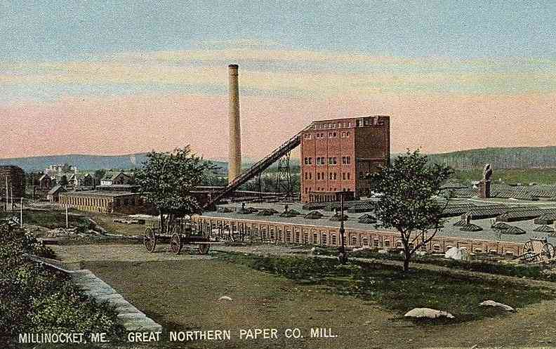 Millinocket, Penobscot, Maine, USA - Great Northern Paper Co. Mill