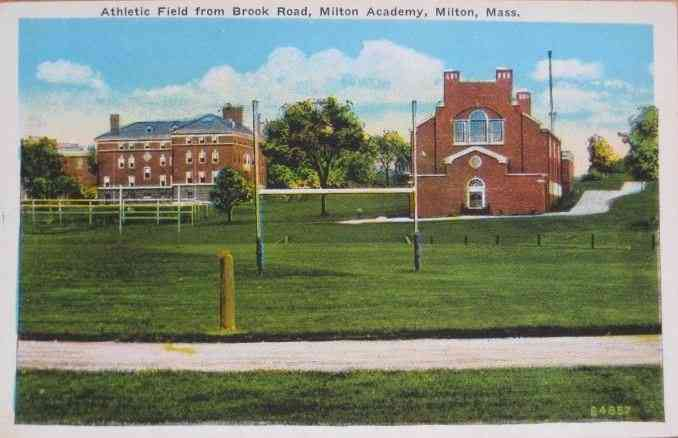 Milton, Massachusetts, USA - Athletic Field from Brook Road, Milton Academy, Milton, Mass.