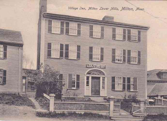 Milton, Massachusetts, USA - Village Inn, Milton Lower Mills, Milton, Mass. (1907)