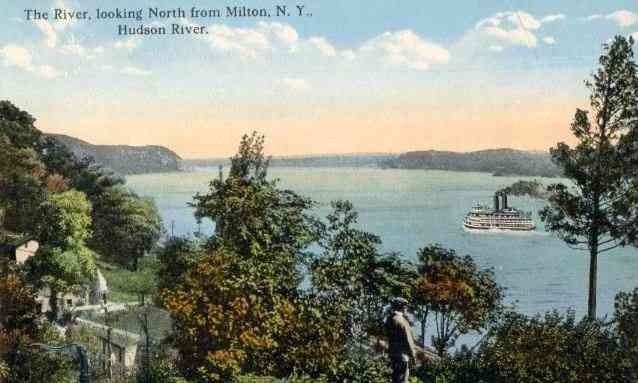 Ballston Spa, New York, USA (Ballston) (Milton) - The River, looking North from Milton, N. Y., Hudson River.