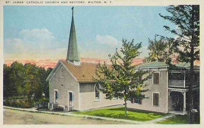Ballston Spa, New York, USA (Ballston) (Milton) - St. james' Catholic Church and Rectory, Milton, N. Y.