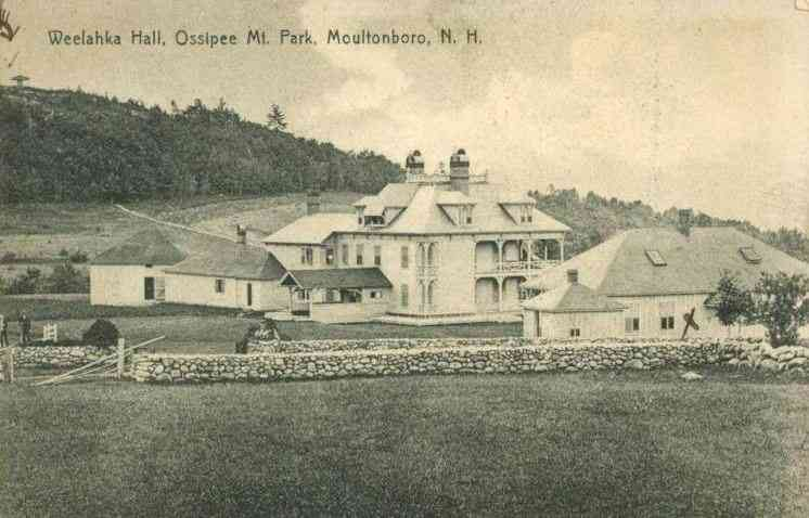 Moultonboro, New Hampshire, USA - Weelahka Hall, Ossipee Mt. Park, Moultonboro, N. H.