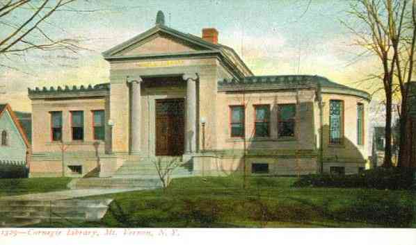 Mount Vernon, New York, USA - Carnegie Library, Mount Vernon, N.Y.