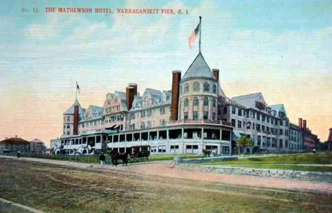 Narragansett, Rhode Island, USA (Point Judith) - The Matthewson Hotel, Narragansett Pier, R. I.