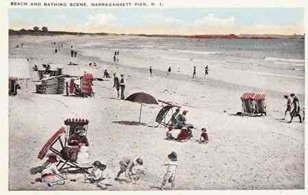 Narragansett, Rhode Island, USA (Point Judith) - Beach and Bathing Scene, Narragansett Pier, R.I.