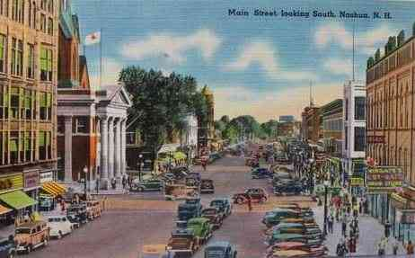 Nashua, New  Hampshire, USA (Dunstable) - Main Street looking South