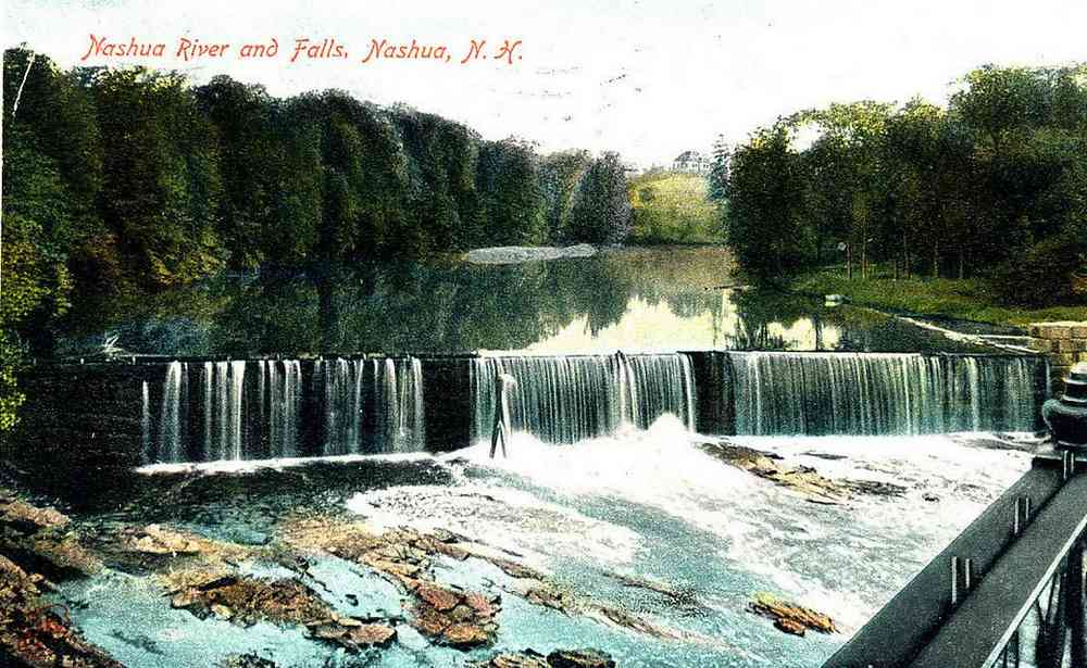 Nashua, New  Hampshire, USA (Dunstable) - Nashua River and Falls, Nashua, N.H.