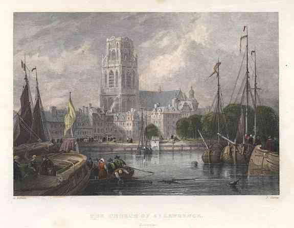 , Netherlands (Holland) - The Church of St Lawrence. Rotterdam