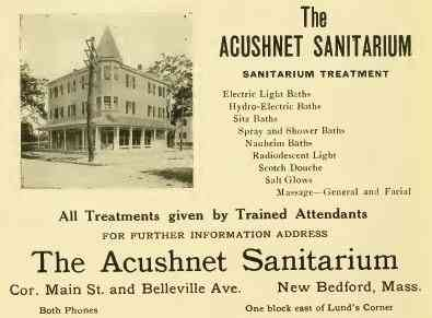 New Bedford, Massachusetts, USA - The ACUSHNET SANITARIUM