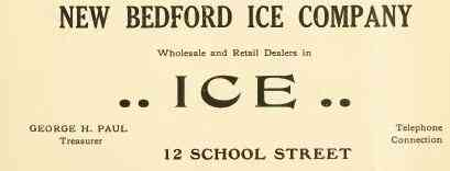 New Bedford, Massachusetts, USA - NEW BEDFORD ICE COMPANY