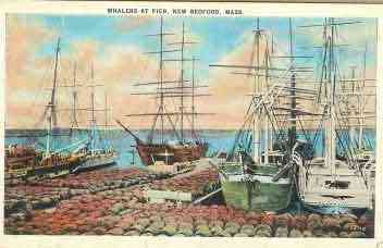 New Bedford, Massachusetts, USA - Whalers at Pier, New Bedford, Mass.