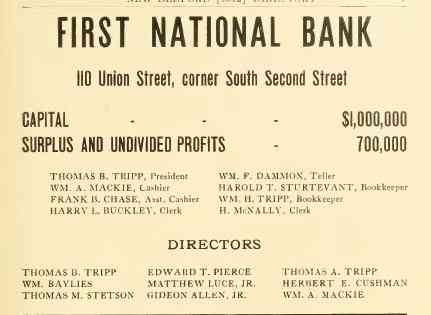 New Bedford, Massachusetts, USA - FIRST NATIONAL BANK