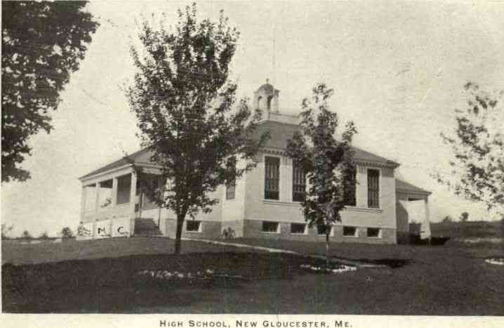New Gloucester, Maine, USA - High School (1910)