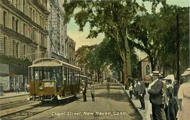 New Haven, Connecticut, USA - Chapel Street, New Haven, Conn.