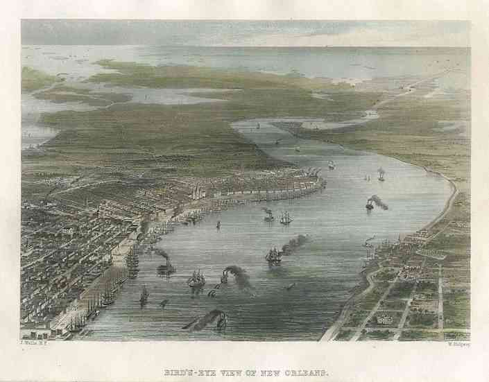 New Orleans, Louisiana, USA - Bird's-Eye View of New Orleans