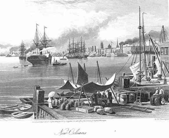 New Orleans, Louisiana, USA - Picturesque America: Or, the Land We Live In. A Delineation by Pen and Pencil of the Mountains, Rivers, Lakes... With Illustr. on Steel and Wood, by Eminent American Artists, Volume 1
