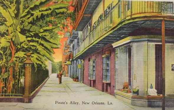 New Orleans, Louisiana, USA - Pirate's Alley, New Orleans, La.