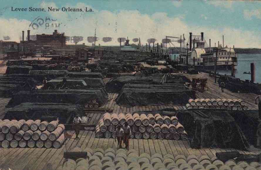 New Orleans, Louisiana, USA - Levee Scene