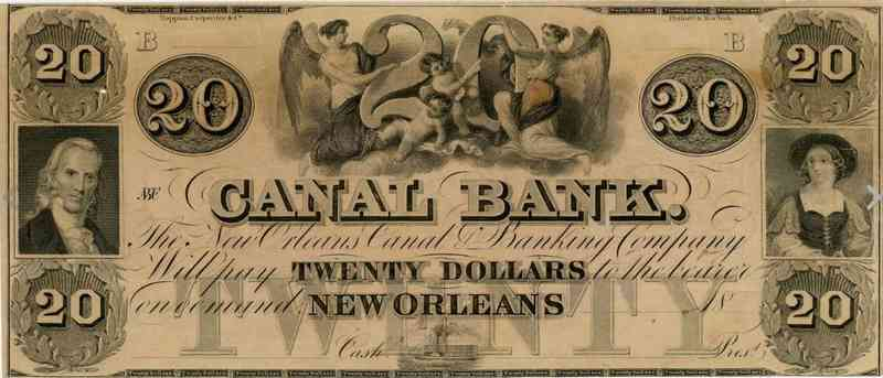 New Orleans, Louisiana, USA - Canal Bank