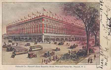 Newark, New Jersey, USA - Hahne & Co., Newark's Store Beautiful, Broad, New and Halsey Sts., Newark, N.J.