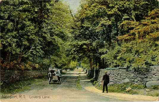 Newport, Rhode Island, USA - Newport, R. I. Lovers Lane.