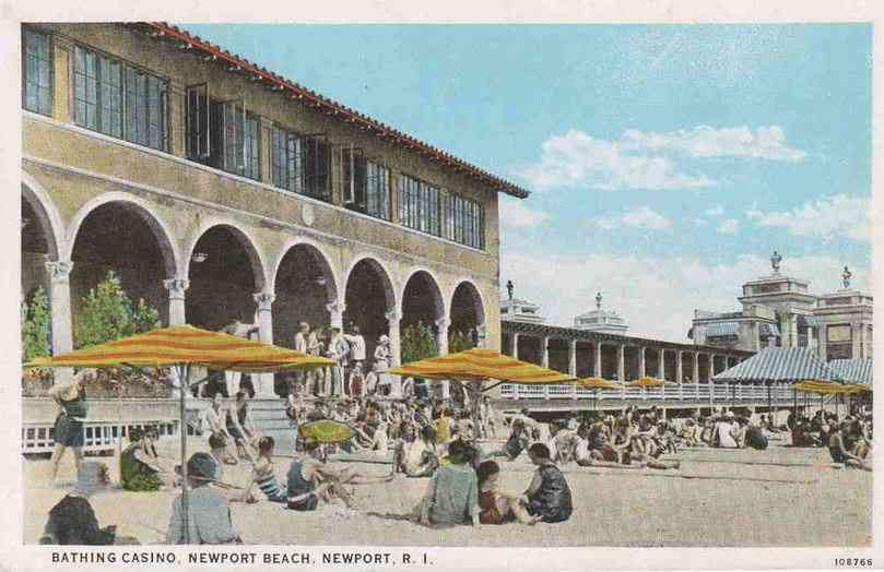 Newport, Rhode Island, USA - Bathing Casino, Newport Beach, Newport, R.I.