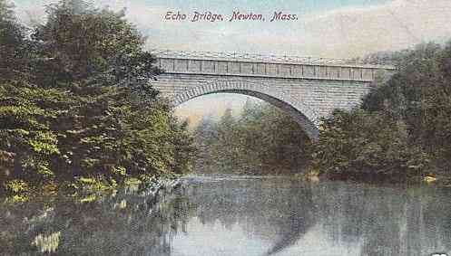 Newton, Middlesex, Massachusetts, USA - Echo Bridge, Newton, Mass.