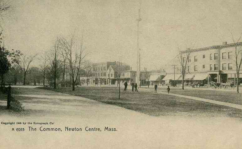 Newton, Middlesex, Massachusetts, USA - The Common, Newton Centre (1905)