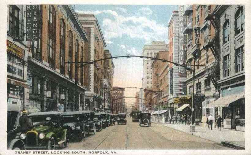 Norfolk, Virginia, USA - Granby Street, Looking South, Norfolk, Va.