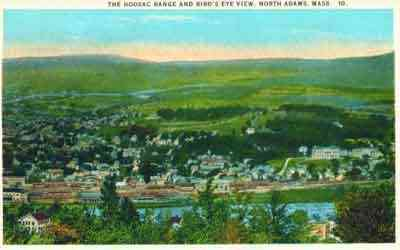 North Adams, Massachusetts, USA - The Hoosac Range and Bird's Eye View, North Adams, Mass.