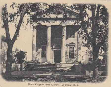 North Kingstown, Rhode Island, USA (North Kingston) (Wickford) (Davisville) - North Kingston Free Library, Wickford, R.I.